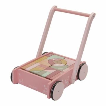 Little Dutch fa járássegítő kocsi  pink