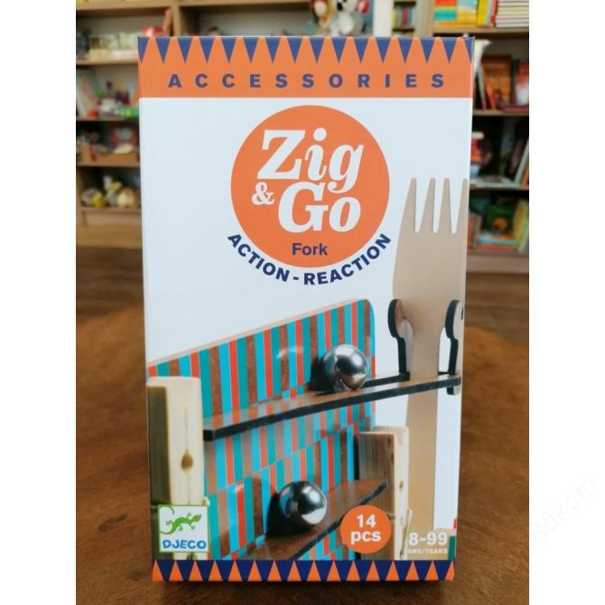 Építőjáték - Sokasodó 14 db - Zig & Go Fork