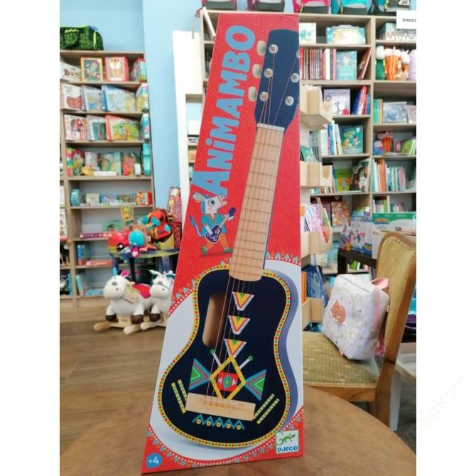 Játékhangszer - Gitár, 6 húros - Guitar 6 metallic ropes