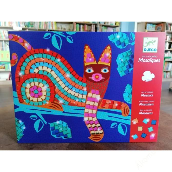 Mozaikkép készítés - Cica és teknős - Oaxacan