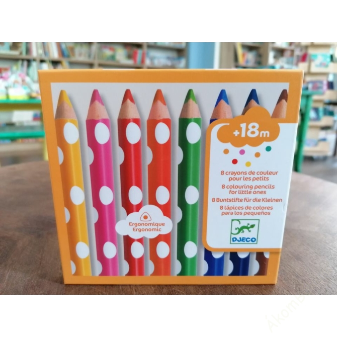 8 színesceruza kicsiknek - colouring pencils for little ones