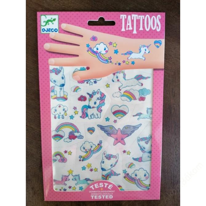 Tetováló matricák - Unikornisok - Unicorns