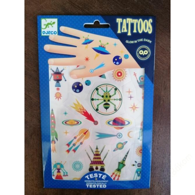 Tetováló foszforeszkáló matricák - Égi furcsaságok - Space oddity