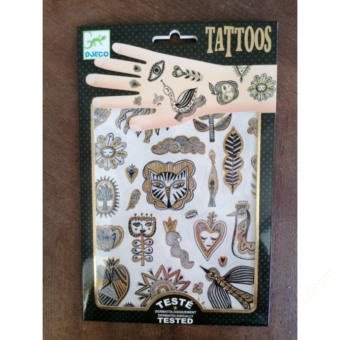 Tetováló matricák - Golden chic