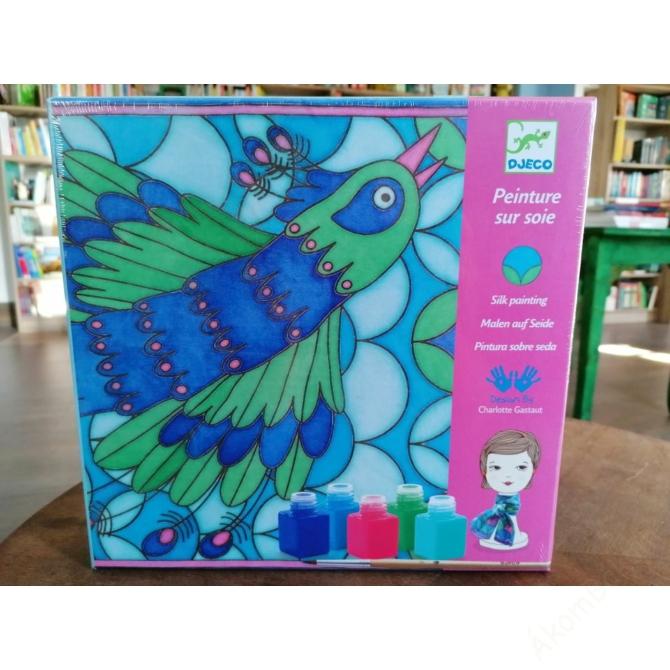Selyemsál festő készlet - Páva - Peacock