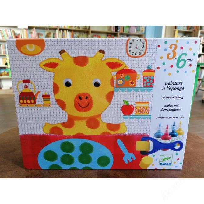 Szivacsfestő műhely - Spongya mackó - Sponge painting