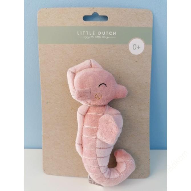 Little Dutch plüss csörgő csikóhal - pink
