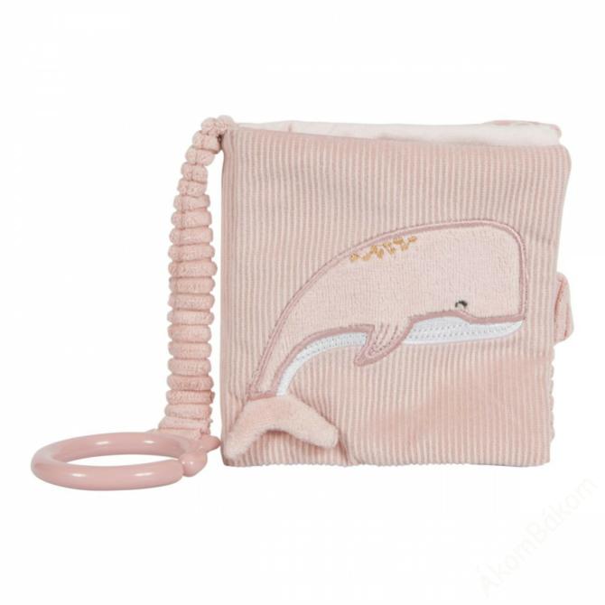 Little Dutch plüss babakönyv - tengeri állatos - pink