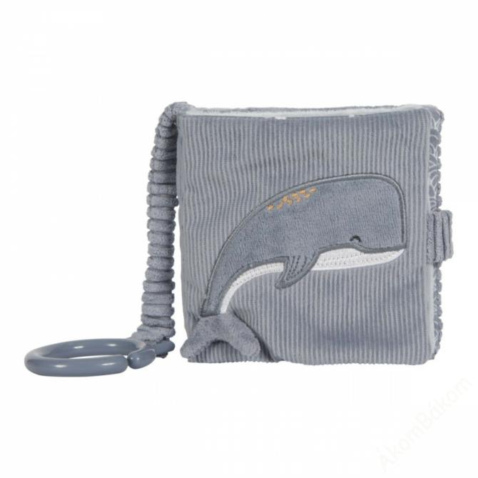 Little Dutch plüss babakönyv - tengeri állatos - kék