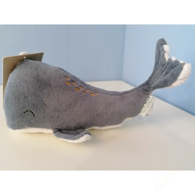 Little Dutch plüss bálna - kék 25 cm