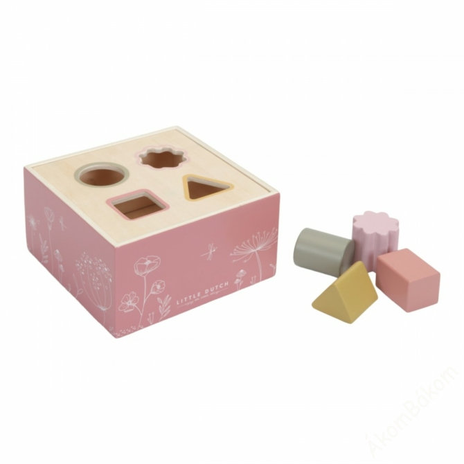 Little Dutch fa formabedobó - pink