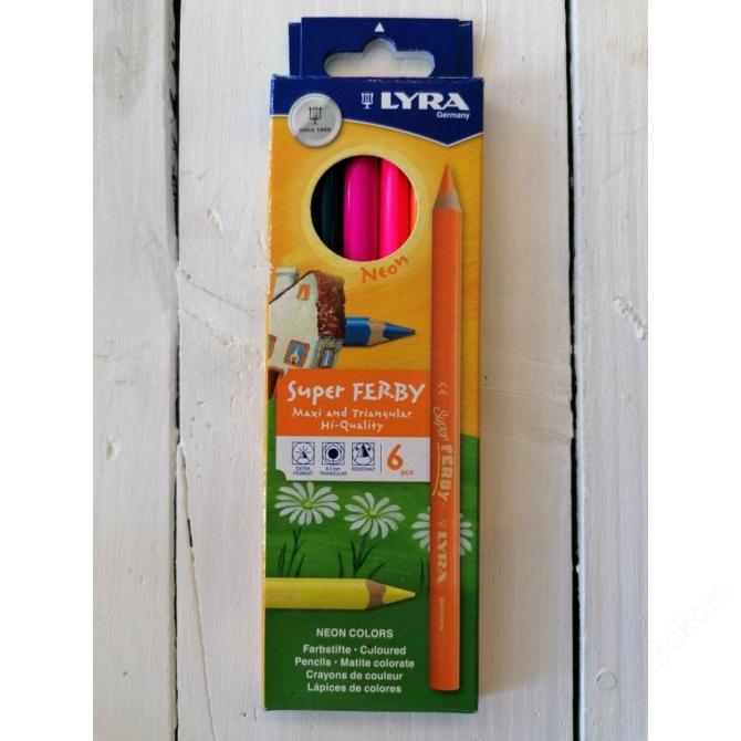 LYRA neon  6 színű ceruzakészlet