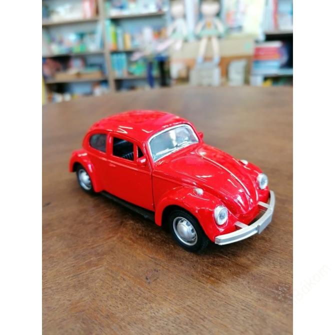 Hátrahúzós Volkswagen Bogár - piros