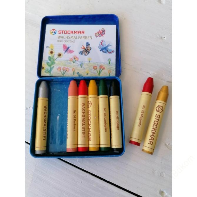 Méhviaszceruza  8 színű - különleges színek